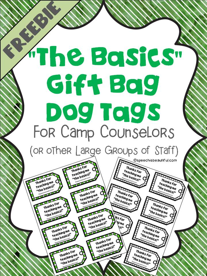 The Basics Gift Tags Cover